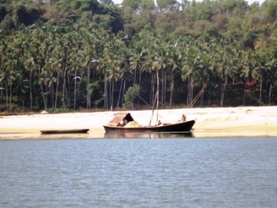 Fishing Boat on River Sal near Mobor Beach