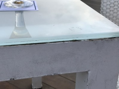 Mouldy table glass